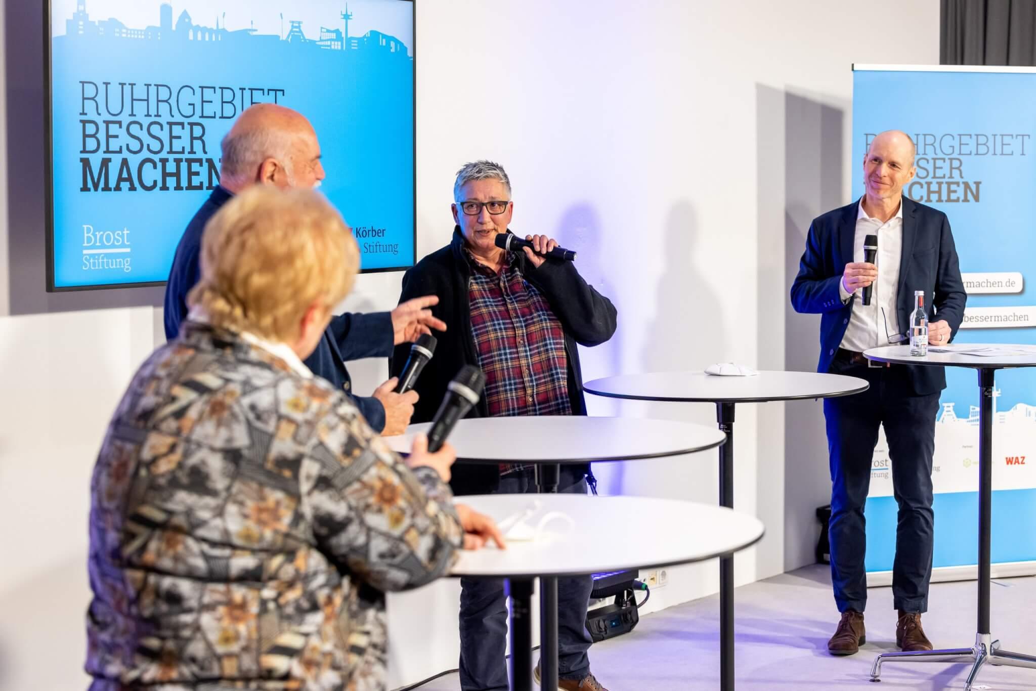 Die Ideenbotschafter Edeltraut Krause, Peter Jötten und Nora Schrage-Schmücker (v.l.n.r.) wollen, dass die Ideen der Bürger*innen nachhaltig wirken können